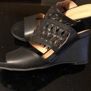 Black wedges.  Worn once